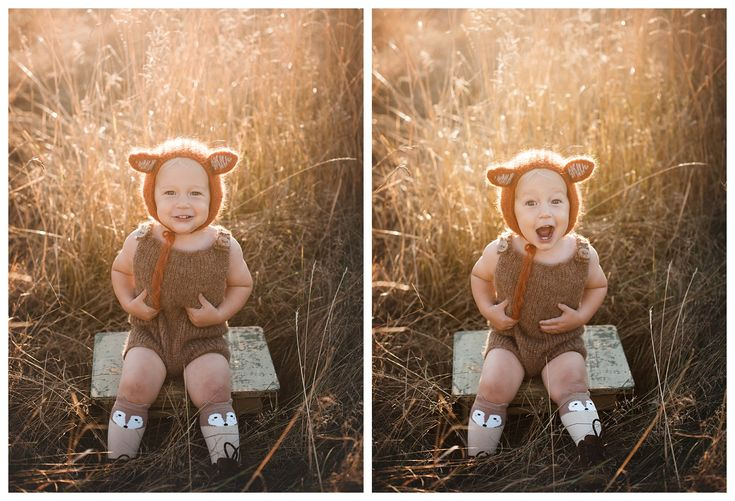 Fall Baby Photography - Baby Fox Bonnet - Cute Baby