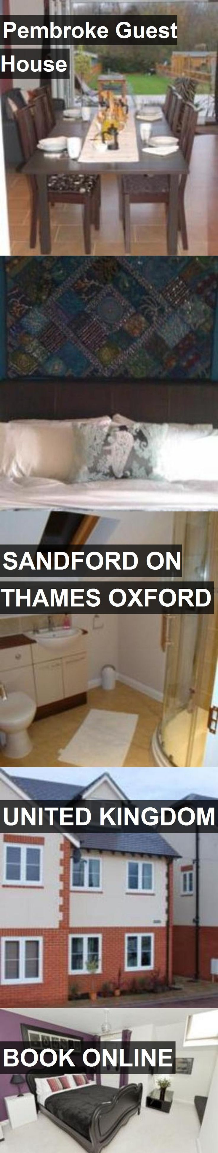 Hotel Pembroke Guest House in Sandford on thames Oxford, United Kingdom. For more information, photos, reviews and best prices please follow the link. #UnitedKingdom #SandfordonthamesOxford #hotel #travel #vacation