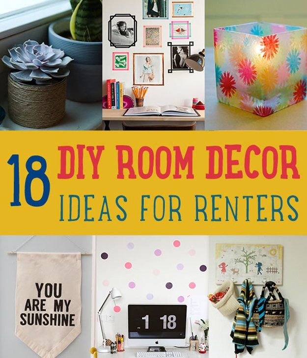 21 DIY Room Decor Ideas for Crafters  Who Are Also Renters 170 best Room Decor images on Pinterest   College apartments  Home  . Diy Crafts To Decorate Your Room. Home Design Ideas