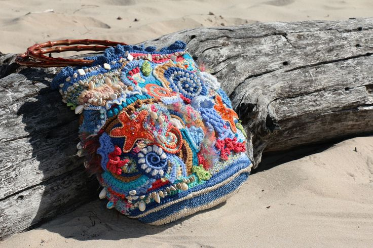 free form bag sea theme. by -https: //www.facebook.com/profile.php? id = 100007041940805