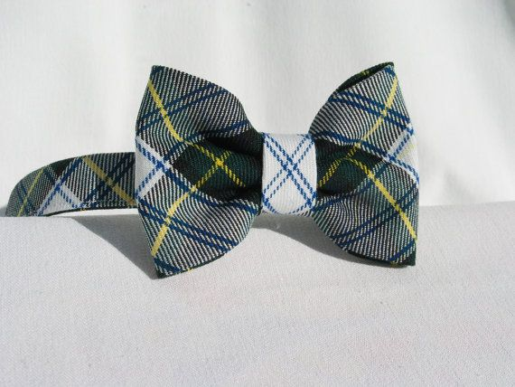 Dress Gordon Tartan Bow Tie  Man Bow Tie Ring by dolldressedup