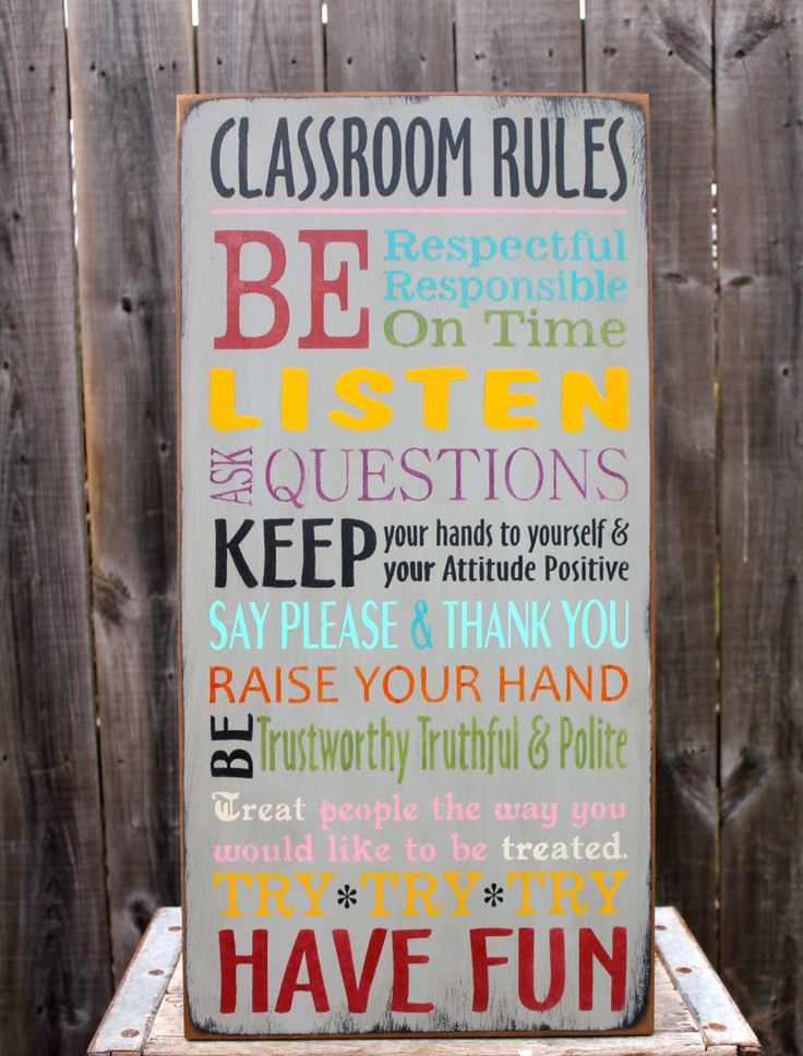 Classroom Rules made by The Primitive Shed, St. Catharines
