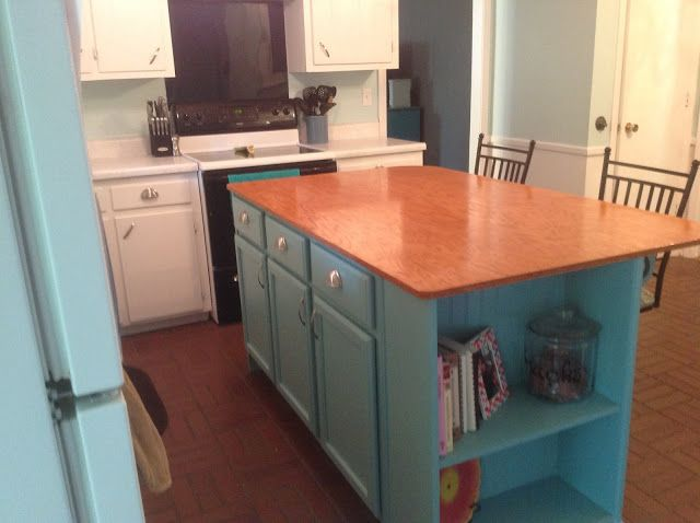 Home Sweet Hurn: We Built an Island - diy kitchen island from stock cabinets