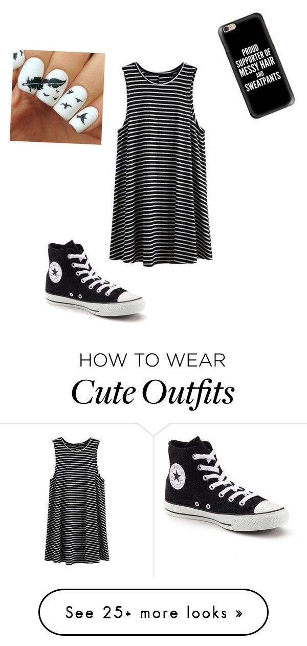 """Cute simple outfit"" by aldcinspired on Polyvore featuring Converse and Casetify"