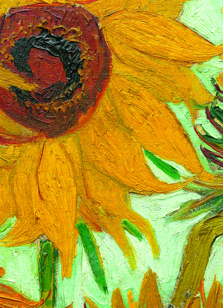 EuroGraphics Sunflowers by Vincent Van Gogh 1000-Piece Puzzle. Executed in Arles, this painting shows a bouquet of sunflowers in a vase. Since 1901, no retrospective van Gogh exhibition voluntarily missed to include at least one sunflowers painting.