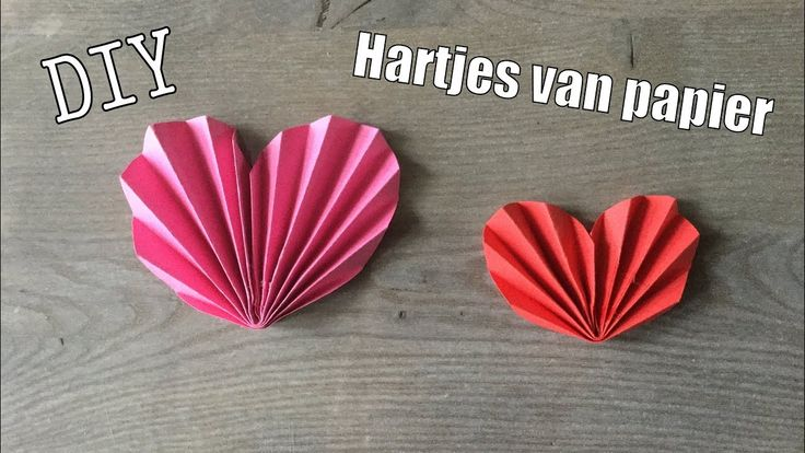 🌹DIY HARTJES KNUTSELEN MET PAPIER- Valentijn idee | CRAFT: EASY PAPER HEART | Craft ides for kids