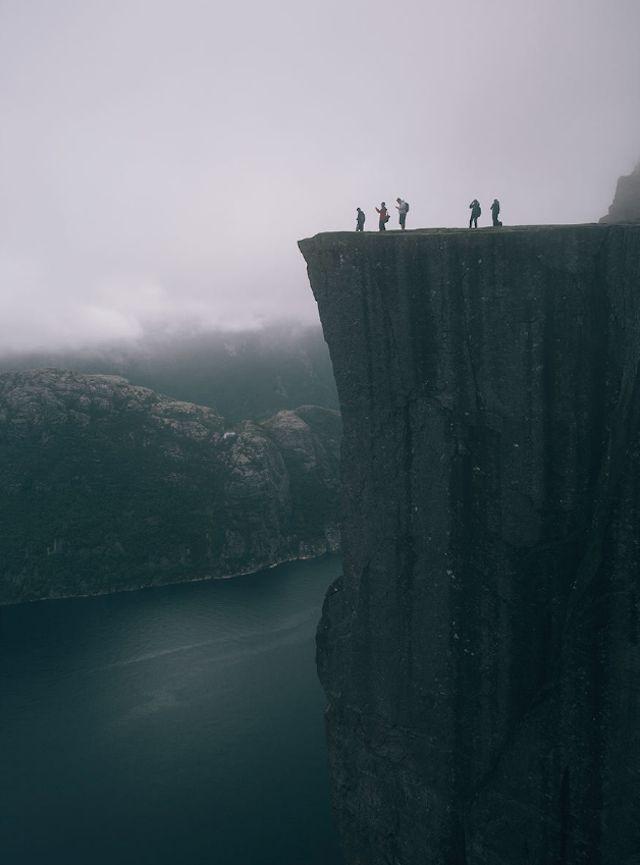 Prekestolen in Norway by Mark Weinberg Incredible spot, but oh dear Lord.. what a DROP!!    #Keepingmyeyesshut