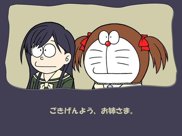 doraemon sama nobitanya aneh kalo rambutnya panjang gini hhahaha