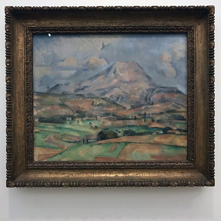 Nog een favoriet. De mooiste kleurverloopjes. Goed te zien dat Cézanne de verf op het doek mengde (π).
