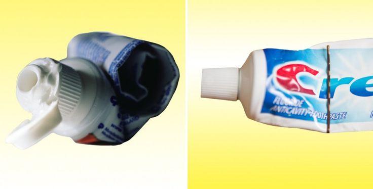 Descubre 21 nuevos usos para objetos de uso diario - Usa una horquilla para sacar todo el dentífrico del tubo