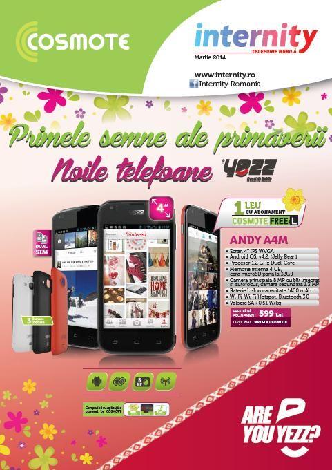Internity (Cosmote) catalog oferte la telefoane mobile si accesorii in luna Martie 2014! Oferte speciale de primavara in noul catalog Internity Cosmote!
