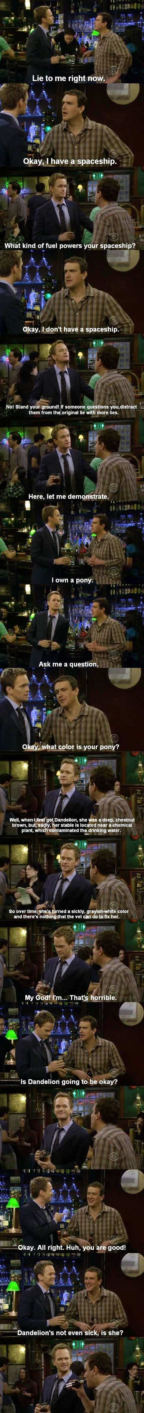 how to lie funny jokes how i met your mother