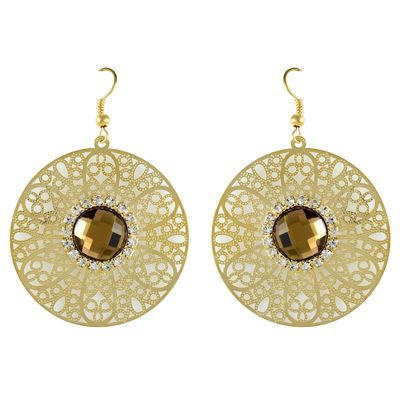 Buy HIGH TRENDZ Gold Earrings by HIGH TRENDZ, on Paytm, Price: Rs.299?utm_medium=pintrest