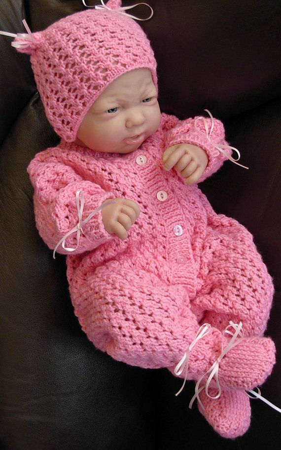 Girl's pdf KNITTING PATTERN 3 Pce Outfit in all by BlueButterflyUK