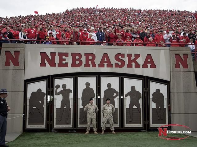At each Nebraska home game beginning in 2006, special members of the armed services were chosen as Gate Guardians. The Sentries protect the Nebraska football team's entry onto the field of Memorial Stadium for the Tunnel Walk.