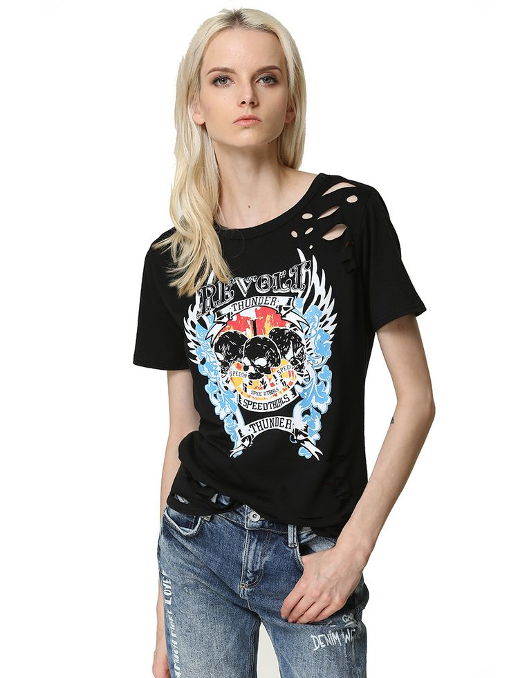 >> Click to Buy << 2017 summer t shirt women t-shirt cotton top poleras de mujer short sleeve tshirt Female Punk rock tee shirt camiseta feminina #Affiliate