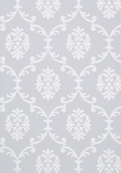 Bastille #wallpaper in #grey from the Monterey collection. #Thibaut #Damask