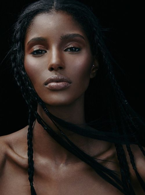Beauty Darkskin Makeup Portrait Darkskin Blackwomen: 342 Best DARK BELLE: Straight Wavy Hairstyles Images On