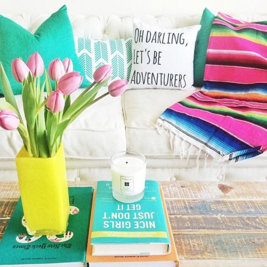Embrace the warmer weather with one of our Mexican Blankets! Style it over your couch like @mckennableu did  or use it for a picnic/beach blanket #landgathome