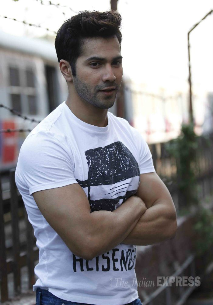 Varun Dhawan visited suburban theatre, Gaiety-Galaxy to promote his film, 'Badlapur'. #Bollywood #Fashion #Style #Handsome