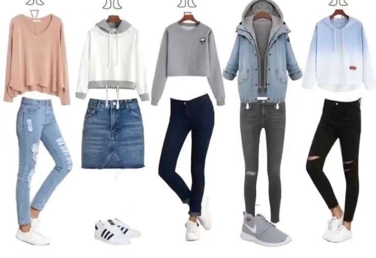 Über 50 niedliche Schul-Outfits für 2018 # Schul-Outfits # Outfits # Teenager # Mädchen
