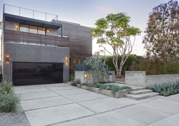 Contemporary Exterior by Shelby Wood Design Like the use of concrete with the colour of the foliage