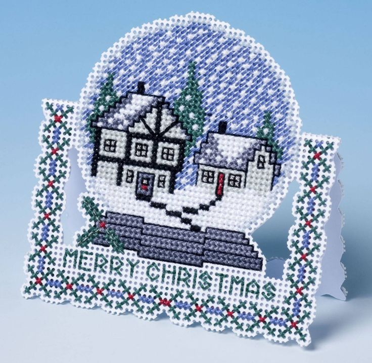 This exceptional 3D effect Christmas card cross stitch kit from The Nutmeg Company is the ideal carrier to treat someone this holiday to a truly speci...