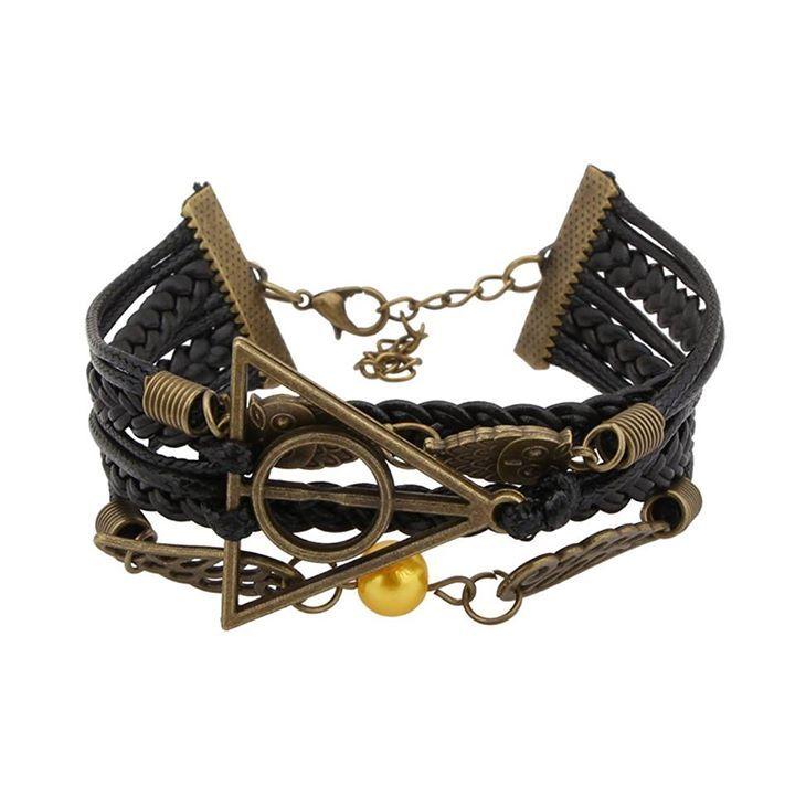 Harry Potter Inspired Multi-strand artificial Leather Bracelet
