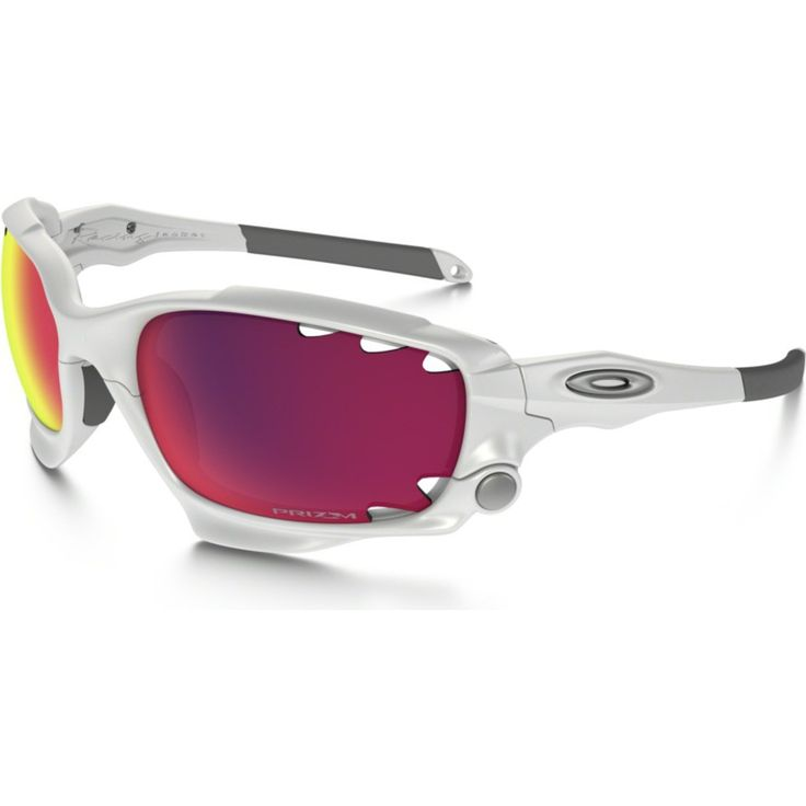 Oakley Sport Racing Jacket Polished White Sunglasses | Prizm Road