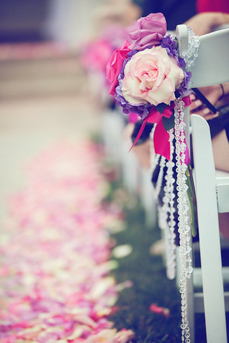 radiant orchid brightens your wedding day: day orchid decor
