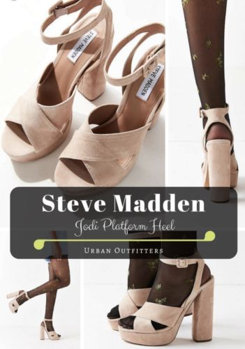 f79b7546bb395 Steve Madden Womens Jodi Platform Sandals Blush Suede 8.5 New In Box ...