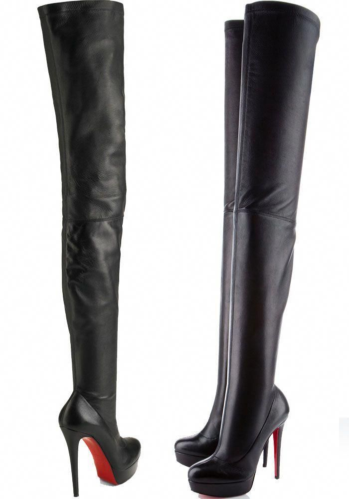 """lowest price fcb96 b9362 Christian Louboutin """"Gazolina"""" Over-the-Knee Boots ..."""