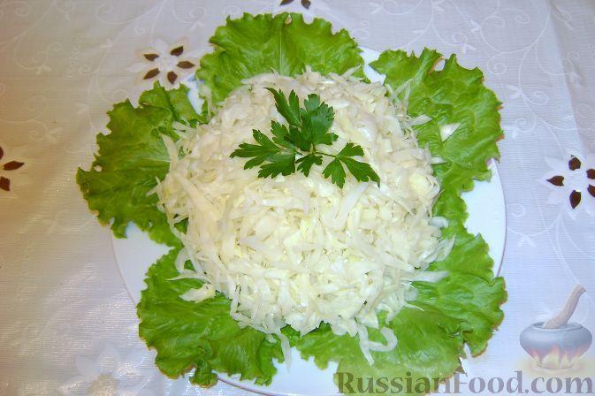 Салат из капусты с уксусом какая каллорийность