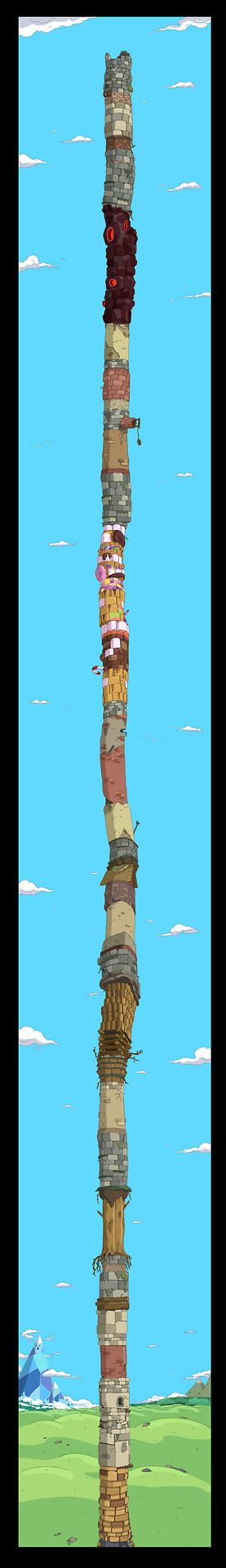 King of OOO: selected backgrounds fromThe Tower art director...