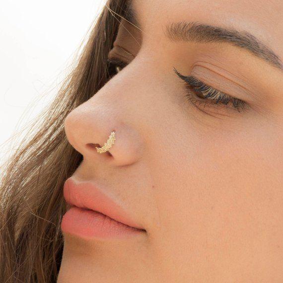 Nose Ring Tribal Nose Ring Gold Nose Ring Ear Piercing Tribal Nose Piercing Indian Nose Ring 20g Nose