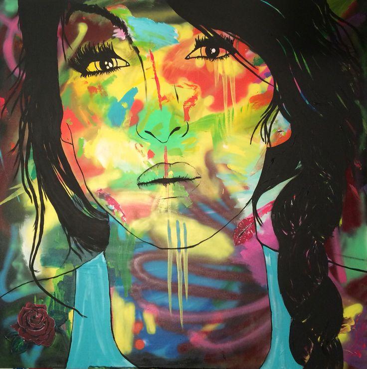 Nina, 100x100 cm, by Ronald Hofman