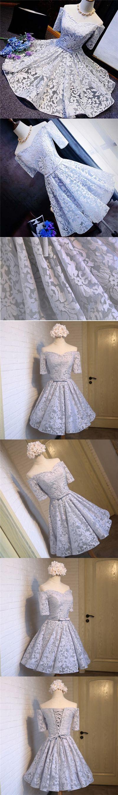 2017 Homecoming Dress Lace Off-the-shoulder Short Prom Dress Party Dress JK098