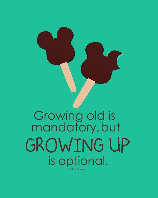 growing up is optional Art Print