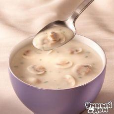 Молочный суп с картофелем и грибами Вам потребуется: 250 г молока 150 г воды 75 г вареных и соленых грибов 25 г сливочного масла 15 г репчатого лука 200 г картофеля соль, перец лавровый лист Приготовление: Грибы нарезать соломкой и вместе с луком обжарить на масле, подлить кипяток, добавить нарезанный кубиками картофель, соль, перец, лавр лист и варить до готовности картофеля. Затем подлить молоко, довести до кипения и снять с огня. Умные хозяюшки делают жизнь вкусной! Каждый день!