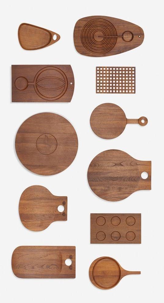Teak Kitchen Boards, c1960.
