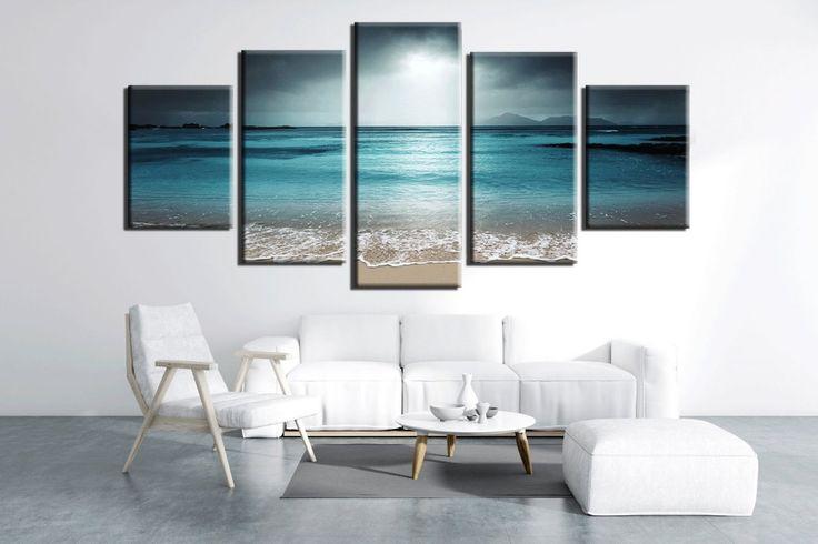 Sea Wave canvas print, Beach Wall decor, Sea Wave Wall art, Ocean Wave poster, Beach Home decor, Beach Artwork