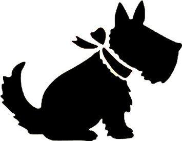 Chien terrier écossais Pochoir style rustique Shabby Chic en Mylar A4 297 x 210 mm - 1 wall art: Amazon.fr: Bricolage