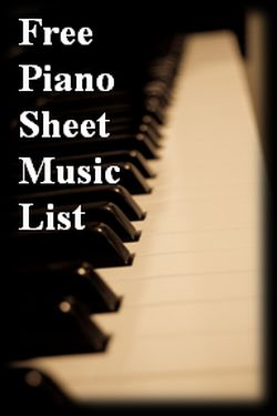 List of Websites with FREE (& Legal) Piano Sheet Music!!!