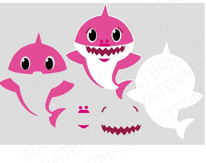 Shark Cutout Files for Cricut SVG and Silhouette Studio