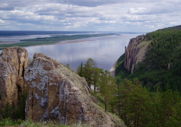 11) The Lena is the easternmost of the three great Siberian rivers that flow into the Arctic Ocean (the other two being the Ob River and the Yenisei River). It is the 11th longest river in the world and has the 9th largest watershed.