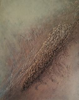 """""""Energien bølger""""  Akryl på lerret m/ struktur - 30 x 24 cm"""