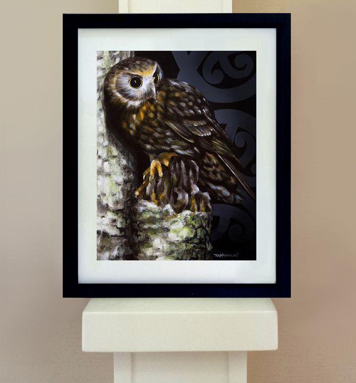 Morepork - Native Bird Print | Felt