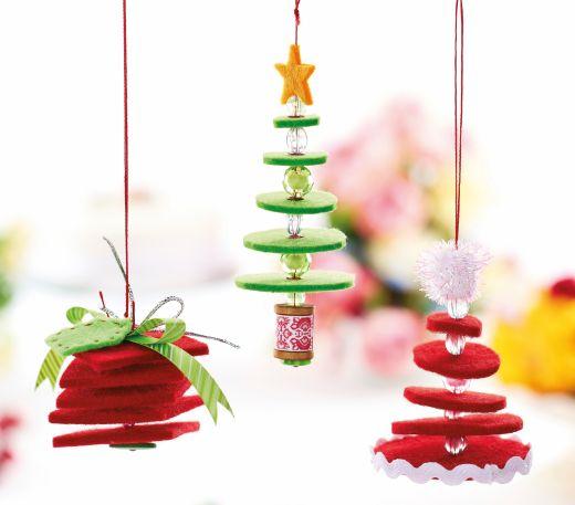 Hanging Felt Christmas Decorations - Free Craft Project – Stitching - Crafts Beautiful Magazine