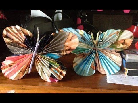 Cómo hacer una mariposa de cartulina - YouTube