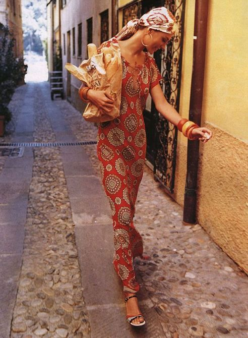 maxi dress. scarf. baguette. this is me in Paris or Italy. ahhh . . .